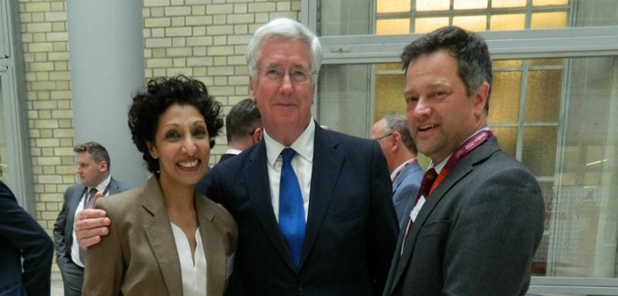 X-Forces CEO, Ren Kapur MBE, The Rt Hon Sir Michael Fallon MP and Tal Lambert MBE, Chairman